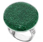 Anillo Bubble Plano Verde